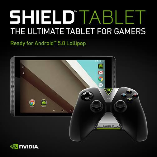 NVIDIA SHIELD tablet to Android 5.0 Lollipop