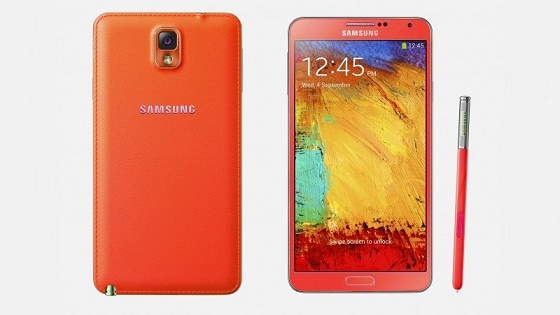 Samsung Galaxy Note III red render