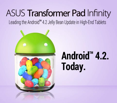 asus transformer pad infinity update android 4.2