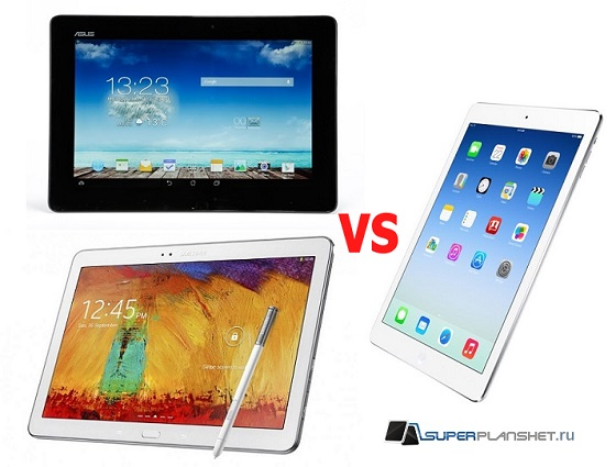 ipad air vs asus transformer tf701t vs samsung galaxy note 2014 edition