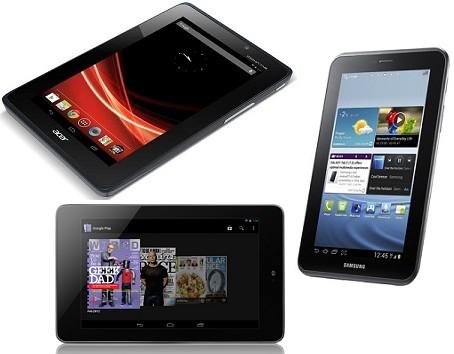 Samsung Galaxy Tab 2 (7.0) vs. Asus Google Nexus 7 vs ...